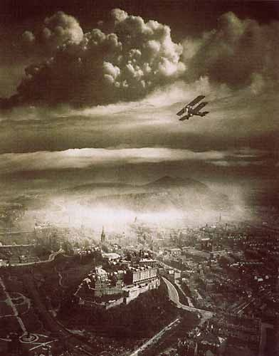 Aerial View of Edinburgh  Alfred C Buckham