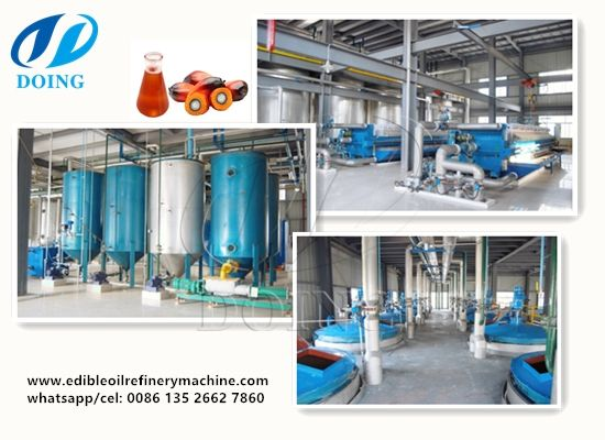 Plam Oil Refienry Palm Oil Fractionation Machine Oil Refinery Edible Oil Refinery