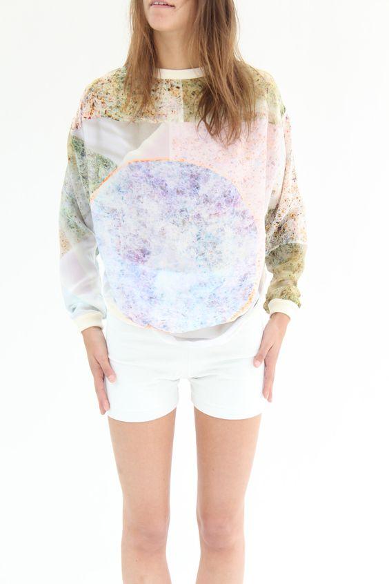 Anntian Silk Sweater Solar System