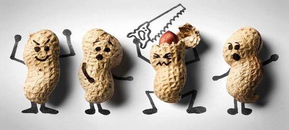 Arte com amendoins...;)  Veja mais em http://www.comofazer.org