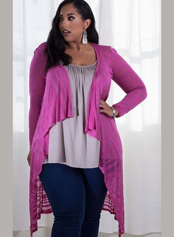 Jamie Plus Size Knit Cardigan – SexyPlus Clothing