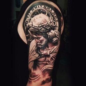 Retratos Y Disenos De Tatuajes De Jesus De Nazaret Tatuaje De Jesus Tatuajes Cristianos Tatuajes Religiosos