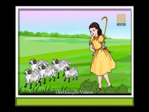 Little Bo Peep has lost her sheep And doesn't know where to find them Leave them alone And they'll come home Wagging their tails behind them Little Bo Peep had fallen asleep And dreamt that she was all alone But when she awoke  And pulled back her cloak  She saw that her sheep had come home