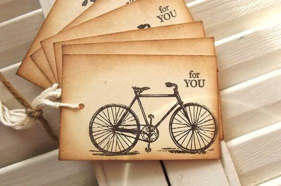 Vintage Bicycle Gift Tags