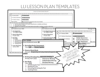 ... Literacy Intervention, Lesson Plan Templates and Lesson Planning