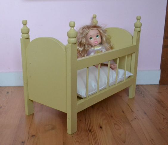Ana white build a fancy baby doll crib free and easy Wooden baby doll furniture