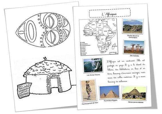 Présenter l'Afrique, proposer des activités et des albums en lien avec l'étude de ce continent ...
