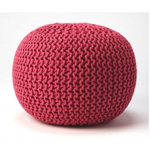 Jute Woven Hot Pink Round Ottoman Pouf Pouf Ottoman Round Ottoman Pink Cushions