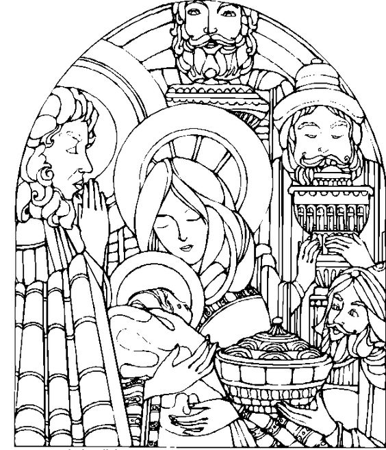 The Story Of Mary And Jesus Coloring Pages - Christmas Coloring Pages : KidsDrawing – Free Coloring Pages Online