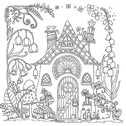 Happy Place Johanna Basford Johanna Basford Fairy Coloring Pages Basford Coloring Book Cool Coloring Pages