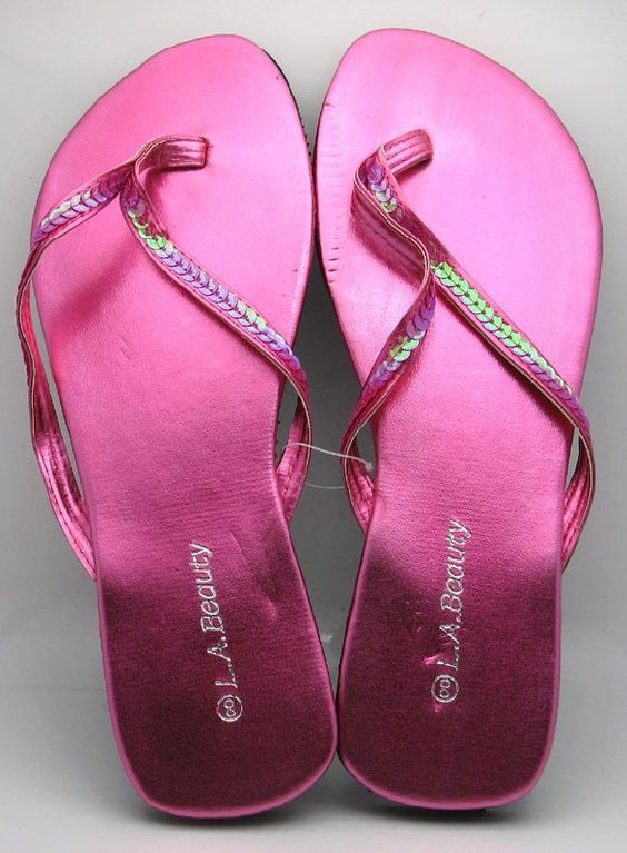 Ladies Hot Pink Flip Flop Sandals-for the reception, 48 pairs for $48.00