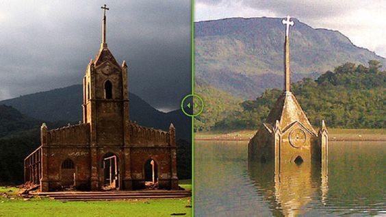 El antes y el después de un pueblo que 'resucitó' después de pasar 30 años bajo el agua - RT