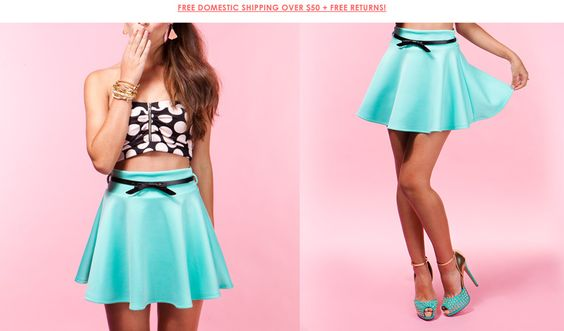 skirt and bow, top