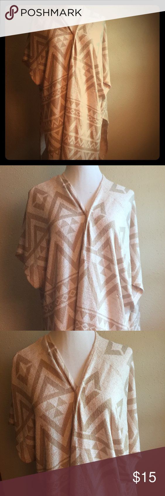 Charming Charlie Wrap Charming Charlie brand wrap sweater/poncho. Size Small. Charming Charlie Sweaters Shrugs & Ponchos
