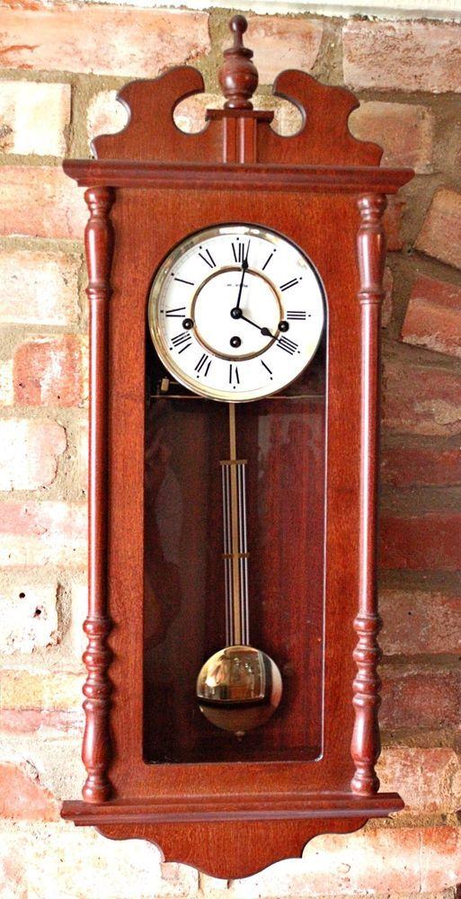 Vintage German Franz Hermle 8 Day Wall Clock With Westminster Chimes Reloj De Pendulo Reloj De Pared Pendulo