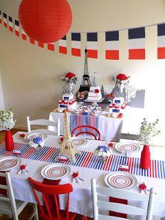 d co de table th me 14 juillet 14 juillet pinterest tables d jeuners et hiver. Black Bedroom Furniture Sets. Home Design Ideas