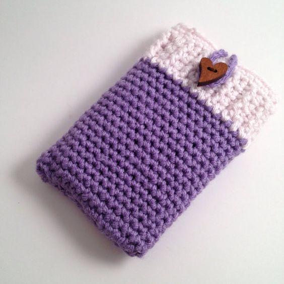 Crochet Phone Sleeve by StringAndStitch on Etsy