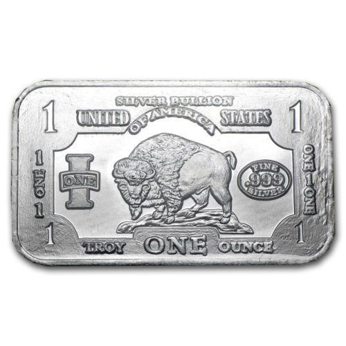 1 Oz Silver Bar Buffalo Sku 42933 Silver Silverbar Silver Bars Old Silver Coins Silver Bullion Coins