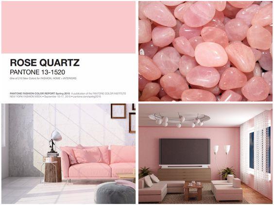 Que tal deixar sua casa mais charmosa e sofisticada? O rosa quartzo é a cor ideal para isso, ainda mais se combinada com preto, branco ou cinza. Já com dourado fica irresistivelmente elegante!  #Pantone #2016 #decor