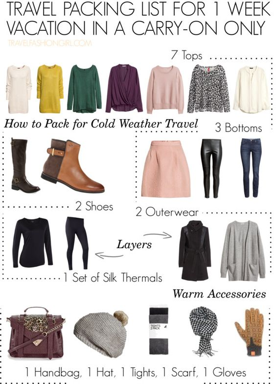 Can you pack for cold weather travel in just carry-on luggage? Find out how and download your free PDF guide! This is a must read for female travelers!: