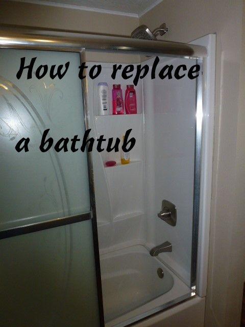 How To Replace A Bathtub Bathtub Shower Bathtub Toilet Cleaning