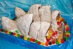 Ginger bread house in the shape of The Sydney Opera House