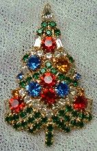 This lovely Eisenberg Ice Christmas Tree Pin was actually featured in both the 2nd and 3rd editions of the book and dates from the 80's.: