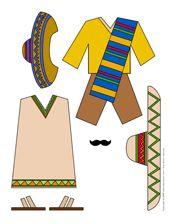 Poupée à habiller du Mexique