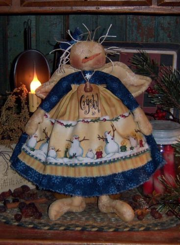 Primitive Snowman Crystal Snow Angel Doll Paper Pattern #239