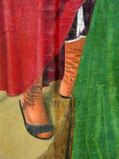 1480-1494.  Jesus in Caiaphas, school Fray Alonso de Zamora,  Burgos Cathedral Museum: