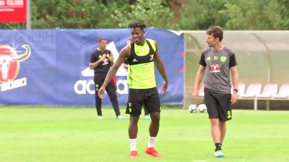A first look at Michy Batshuayi in training!