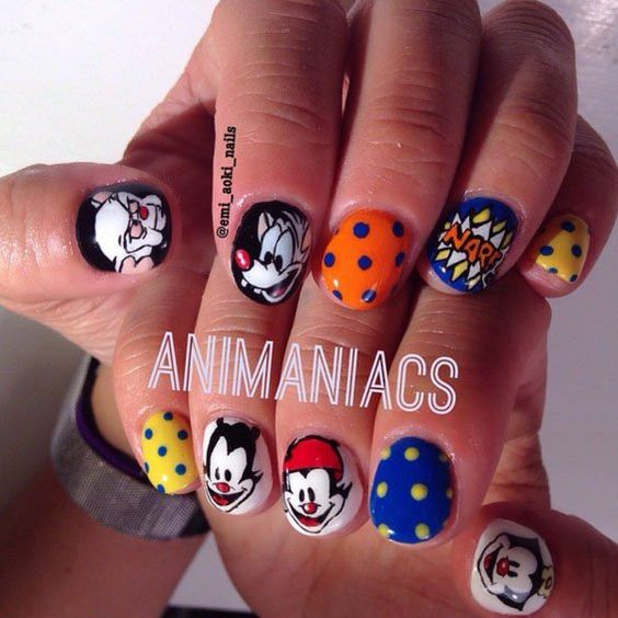 Pin for Later: 20 Cartoon-Inspired Nail Art Looks That Will Make You Feel Nostalgic Animaniacs Action