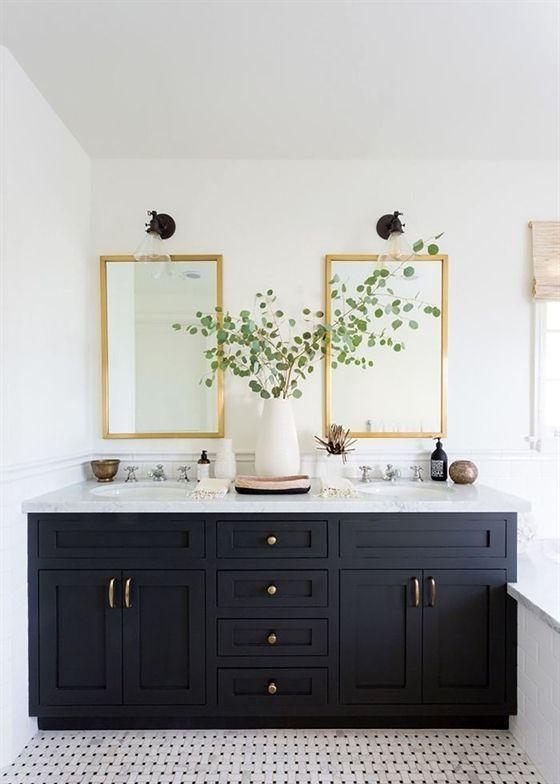 Interior Design License Interior Design Using Sketchup Interior Design Bedro White Bathroom Inspiration White Bathroom Paint Black Cabinets Bathroom