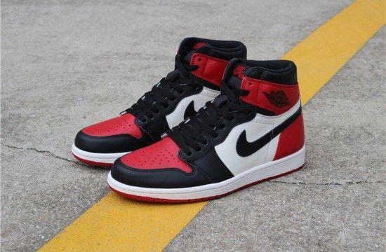 Air Jordan 1 Retro High Og Bred Toe 555088 610 Air Jordans