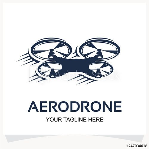 Drone Logo Quad Copter Logo Design Template Inspiration In 2021 Drone Logo Logo Design Design Template