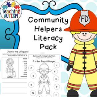 Community Helpers Literacy Worksheets | Literacy Worksheets ...