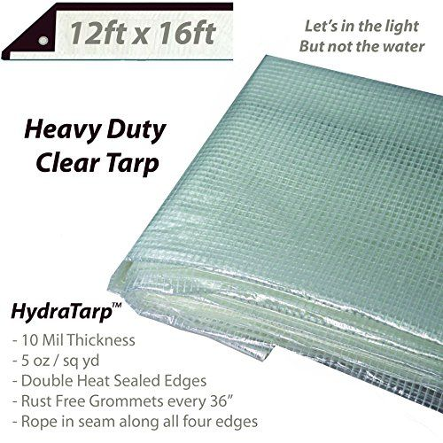 Heavy Duty Clear Greenhouse Tarp 12ft X 16ft Premium Quality 10 Mil With 3x3 Mesh Weave For Added Strength Heavy Duty Trailers For Sale Truck And Trailer
