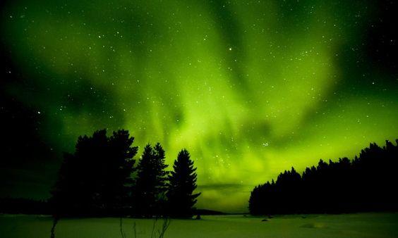 ALLPE Medio Ambiente Blog Medioambiente.org : ¿Cómo se ve una aurora boreal desde debajo del hielo?