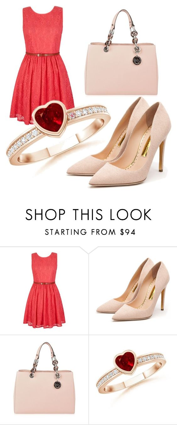 """Untitled #352"" by agnes1806 ❤ liked on Polyvore featuring Yumi, Rupert Sanderson, MICHAEL Michael Kors, women's clothing, women, female, woman, misses and juniors"