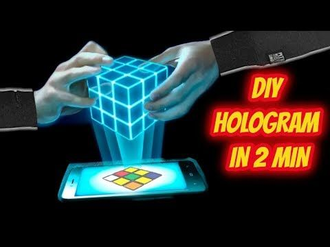 How To Make Hologram Projector In 2 Minutes Youtube Hologram Hologram Projection Robots Concept