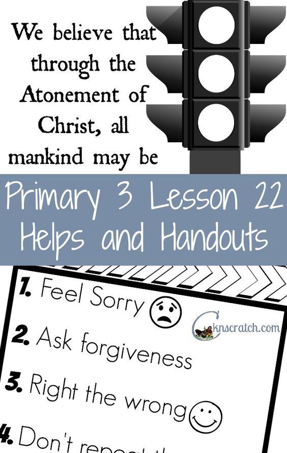 Primary manual 4 lesson 22 homework