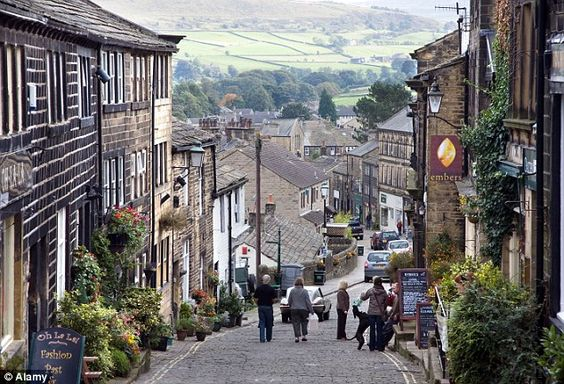 The village of Haworth, West Yorkshire, celebrating its enduring legacy as home to The Railway Children