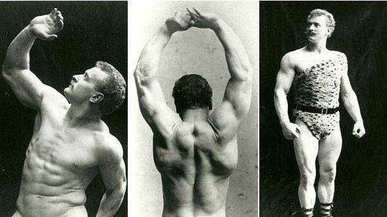 Eugen Sandow fue el precursor de la cultura por el físico que hizo populares los gimnasios. Rápidamente se convirtió en un símbolo sexual.