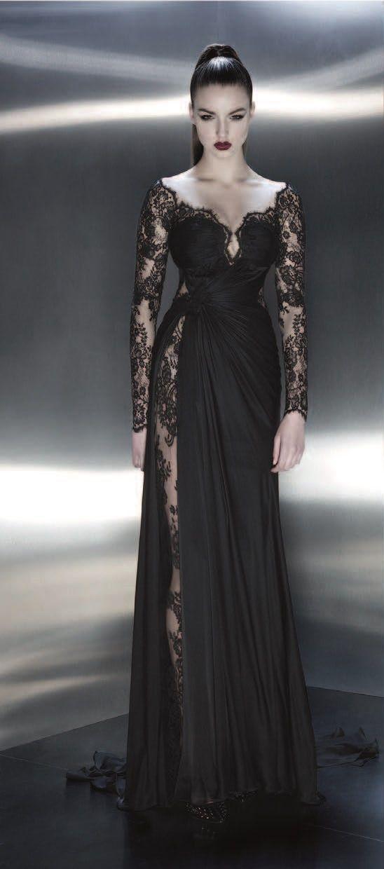 F362 Charming Lady Dresses Black Lace Long Sleeve Evening Dresses Off The Shoulder Prom Dresses From Fashion Lady Dress Evening Dresses With Sleeves Evening Dresses Lace Dress Black