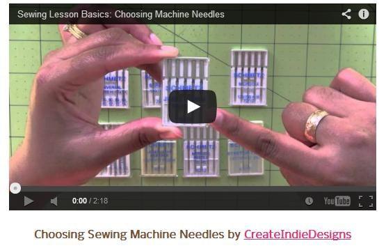 Choosing Sewing Machine Needles by CreateIndieDesigns #sewing