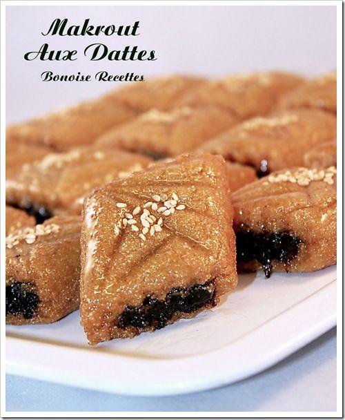 Makrout aux Dattes un Gâteau Algérien - Bonoise recettes art de cuisine de sihem gateaux algériens cuisine algérienne biscuits ramadan