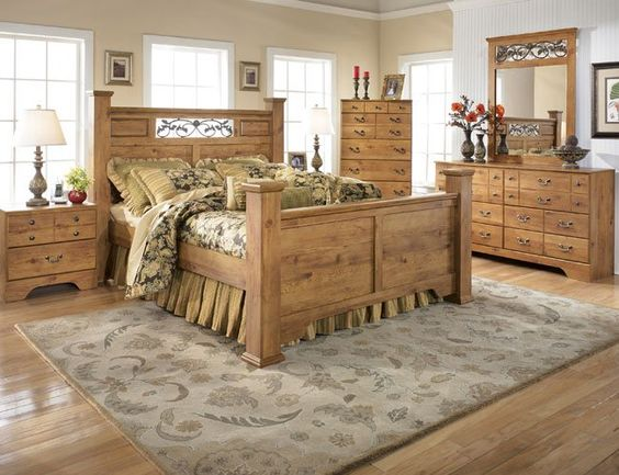 french country bedroom and modern pine furniture Dream home