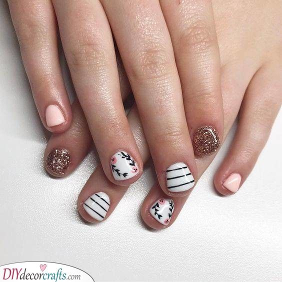 A Beautiful Look A Combination Of Everything Kids Nail Designs Girls Nail Designs Nails For Kids
