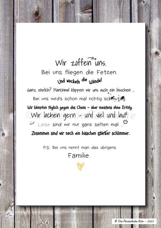 Digitaldruck - Druck/Print: Familienzoff - für Chaosfamilien :) - ein Designerstück von DiePersoenlicheNote bei DaWanda