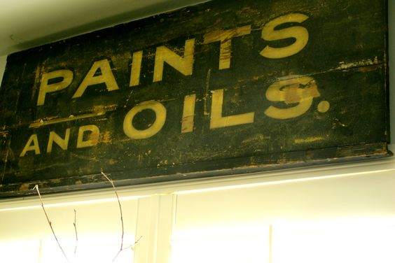 Another vintage handmade sign. . .